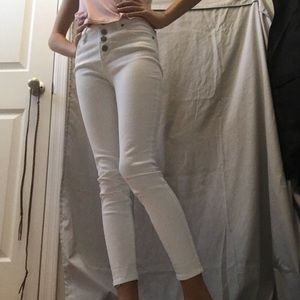 RSQ White high-waisted jeans